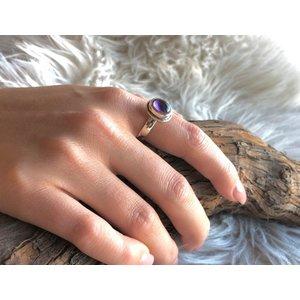 Zilveren ring Amethist maat 6
