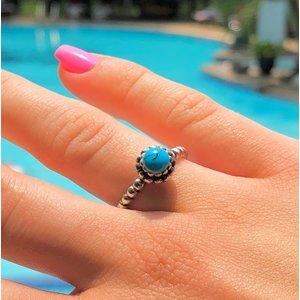 Zilveren ring turquoise
