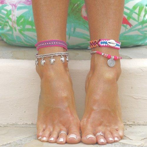 Enkelbandje Maui roze