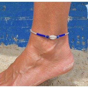 Enkelbandje Oahu blauw