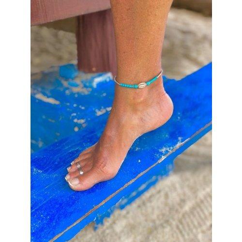 Enkelbandje Oahu turquoise