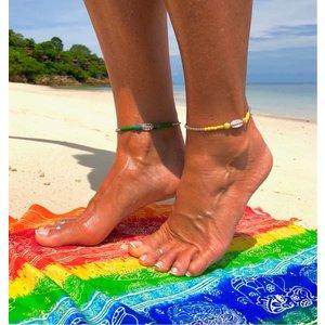 Enkelbandje Oahu geel