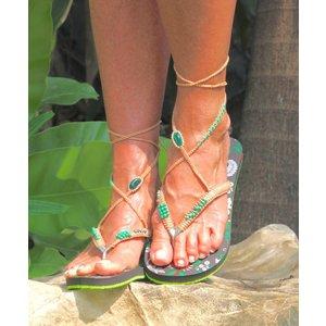Bohemian Flip Flops Groen