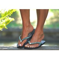 Boho Flip Flops turquoise