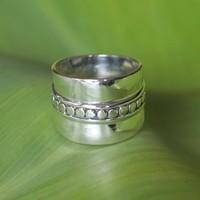 Bali style Boho zilveren ring Palawan