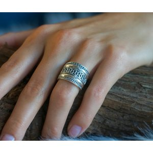 Bali style Boho zilveren ring Gili