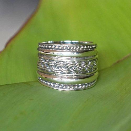 Bali style Boho zilveren ring Lombok