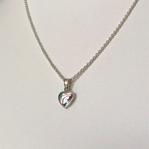 Ketting Abalone Hart zilver