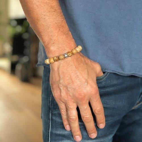 Kralen armband Jasper stone