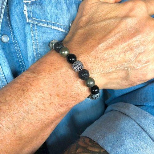 Kralen armband natuursteen mix
