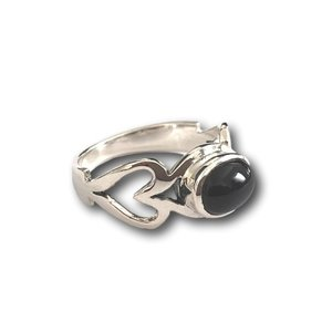 Zilveren ring Black Onyx LOVE