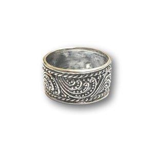Zilveren Bali style ring 'UBUD'
