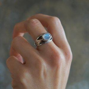 Zilveren ring Leaf Moonstone