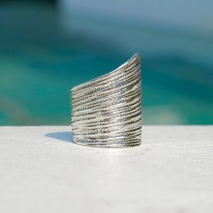 Zilveren BOHO ring Screw