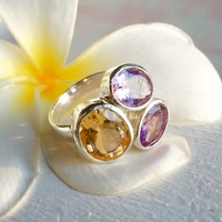 Zilveren ring Gemstone Deluxe
