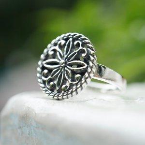 Zilveren ring Ananda