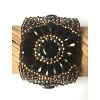 Isla Ibiza klemarmband zwart