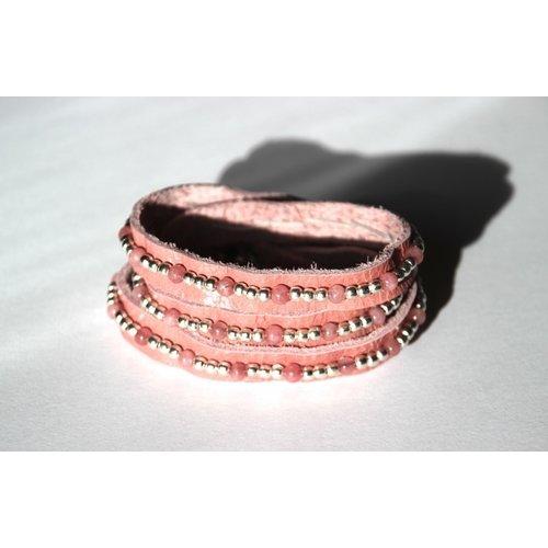 Wrap band Gracia roze