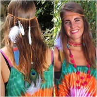 Indian Feather haarband
