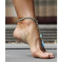 Barefoot sandals Feliz turquoise