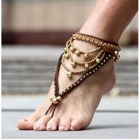 Bohemian barefoot sandals bruin