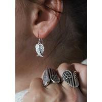 Angel wings oorbellen zilver