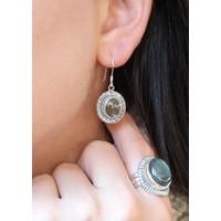 Zilveren oorbellen Labradoriet