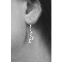 Zilveren Angel wings oorbellen