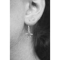 Zilveren oorbellen Zeester