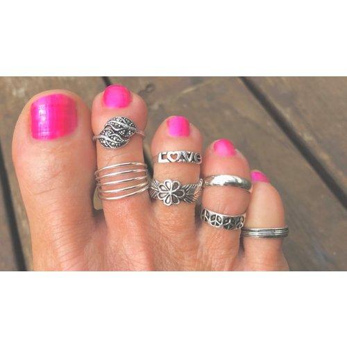 Teenring / vingertop ring CINCO
