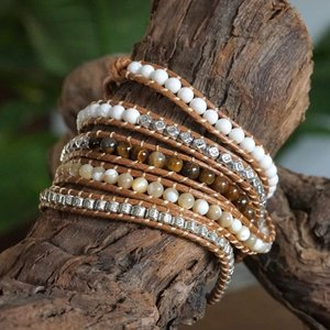 Wrap armband Cinco Tigereye