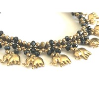 Enkelbandje Olifantjes goudkleurig