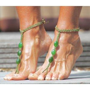 Barefoot sandals Feliz groen