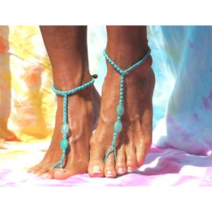 Barefoot sandals Feliz blauw