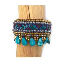 Klemarmband Hippy de Colores turquoise