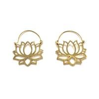 Bohemian Lotus oorbellen goudkleurig