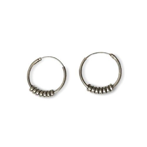 Bali hoops 15 mm zilver