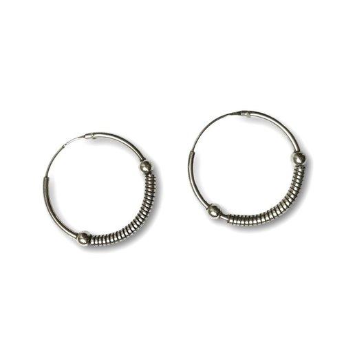 Bali hoops 26 mm zilver