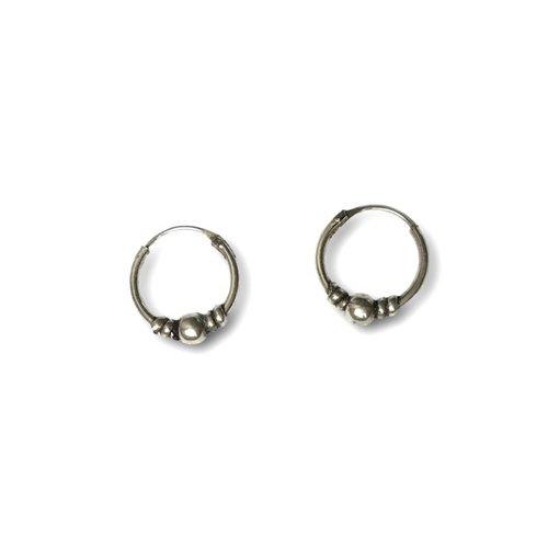 Bali hoops 12 mm zilver