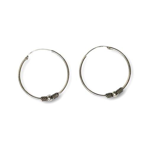 Bali hoops 32 mm zilver