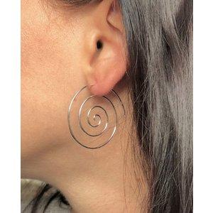 Zilveren oorbellen Spiraal