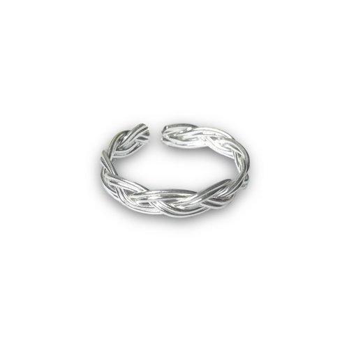 Teenring / vingertop ring BRAID