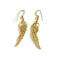 Angel wings oorbellen goudkleurig