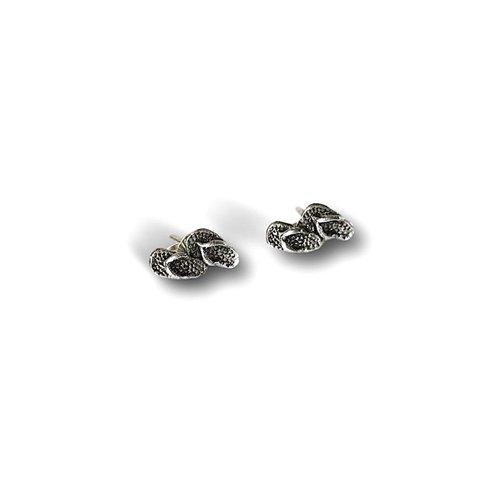 Zilveren Flip Flop oorknopjes