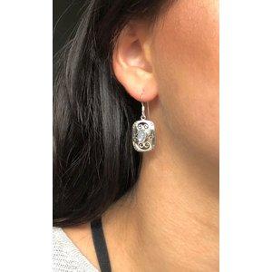 Zilveren Edelsteen oorbellen met Moonstone