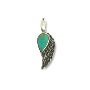 Angel wing hanger turquoise
