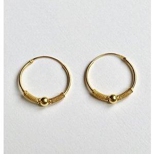Goldplated Bali hoops 20 mm
