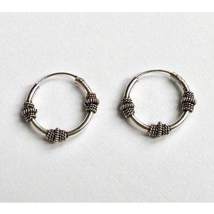 Bali hoops 17 mm zilver