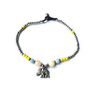 Enkelbandje olifant geel