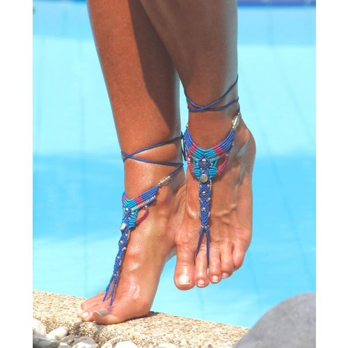 Barefoot sandals bohemian style